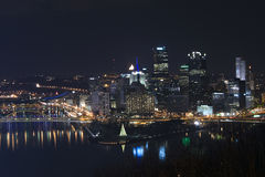 Pittsburgh at night Royalty Free Stock Photography
