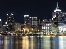 Downtown Pittsburgh Pennsylvania Skyline Night stock image
