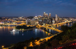 Pittsburgh Night Stock Images