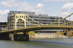 Pittsburgh North Shore. Behind 9th Street Bridge Royalty Free Stock Images