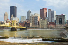 Pittsburgh North Shore View Stock Photography