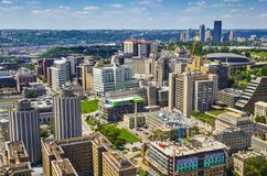 Pittsburgh at Oakland. PIttsburgh, Pennsylvania, USA skyline over the Oakland District Royalty Free Stock Image