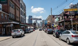 Strip District in Pittsburgh Pennsylvania royalty free stock photo