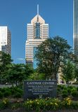 Gateway Center in downtown Pittsburgh stock images