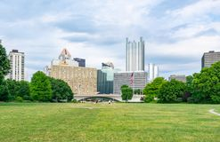 Pittsburgh, Pennsylvania Skyline from Point State Park Royalty Free Stock Image