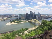 Pittsburgh PA. Pittsburgh Pennsylvania from a hill Stock Photography
