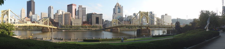 Pittsburgh Panorama. Skyline of Pittsburgh by day at the summer Royalty Free Stock Photo