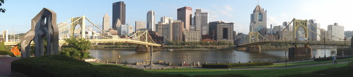 Pittsburgh Panorama. Skyline of Pittsburgh by day at the summer Royalty Free Stock Photos