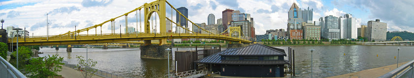 Pittsburgh Panoramic Royalty Free Stock Photo