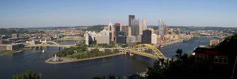 Pittsburgh panoramisch lizenzfreie stockfotos