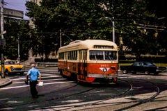 Pittsburgh PCC-spårvagn #1602, i 1966 Arkivbild