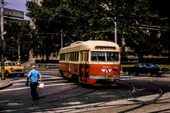 Pittsburgh PCC Trolley #1602, in 1966 Stock Photography