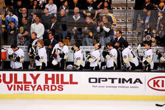 Pittsburgh Penguins bench Royalty Free Stock Image