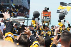 Pittsburgh Penguins Stanley cup victory parade June 2016 Royalty Free Stock Photo
