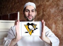Pittsburgh Penguins zamraża drużyna hokejowa loga Obrazy Stock