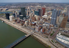 Pittsburgh Pennsylvania Aerial royalty free stock images