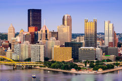 Pittsburgh Pennsylvania Cityscape Royalty Free Stock Photos