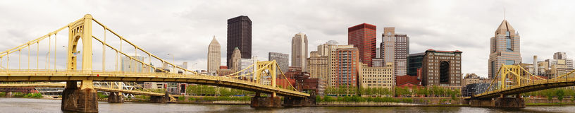 Pittsburgh Pennsylvania Downtown City Skyline Allegeny River Stock Photos