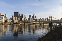 Pittsburgh Pennsylvania Downtown River Waterfront Stock Photo