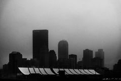 Pittsburgh, Pennsylvania in fog royalty free stock images