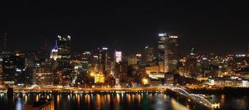 Pittsburgh, Pennsylvania. Night Scene - Beautiful Royalty Free Stock Images