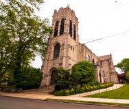 Pittsburgh, Pennsylvania, USA 06/15/2019 das St. Andrew Episcopal Church in der Highland- Parknachbarschaft stockfotos