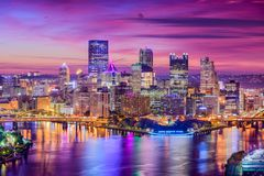 Pittsburgh, Pennsylvania, USA. City skyline royalty free stock images