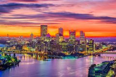 Pittsburgh, Pennsylvania, USA Skyline Royalty Free Stock Images