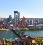 Pittsburgh Pennsylvania USA, skyline panorama of business buildings Stock Photography