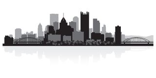 Pittsburgh Pennsylwania miasta linii horyzontu sylwetka ilustracji