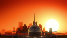 Pittsburgh Pennsylwania usa Ameryka linii horyzontu wschód słońca Bierze Daleko zdjęcie royalty free