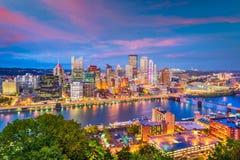 Pittsburgh, Pennsylwania, usa linia horyzontu zdjęcia royalty free