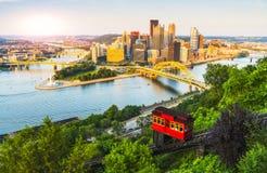 Pittsburgh, Pensilvania, S.U.A. 2017-08-20, bella Pittsburgh a Fotografie Stock Libere da Diritti
