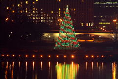 Pittsburgh point state park Christmas Tree Royalty Free Stock Photography
