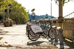 Pittsburgh rental bikes for tourists Stock Photo