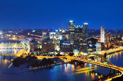 Pittsburgh Skyline Royalty Free Stock Photos
