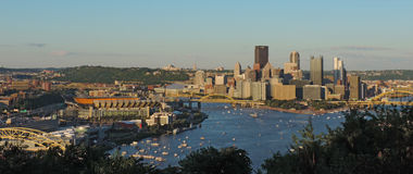 Pittsburgh-Skyline Lizenzfreie Stockfotos