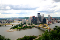 Pittsburgh Skyline. A skyline of Pittsburgh PA taken from the Incline Royalty Free Stock Image