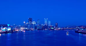 Free Pittsburgh Skyline At Night Stock Images - 20206724