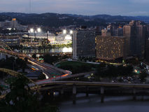 Pittsburgh skyline at dusk Stock Photography