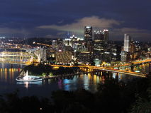 Pittsburgh skyline at dusk Royalty Free Stock Image