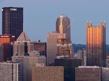 Pittsburgh Skyline at Dusk Royalty Free Stock Images