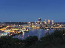 Pittsburgh Skyline at Dusk Royalty Free Stock Photography
