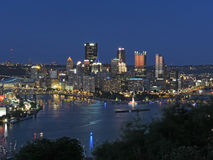 Pittsburgh Skyline at Dusk Stock Photos