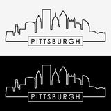 Pittsburgh skyline. Royalty Free Stock Photos
