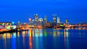Pittsburgh-Skyline nachts stockfotografie