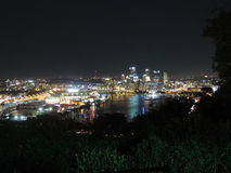 Pittsburgh Skyline at Night Royalty Free Stock Photos