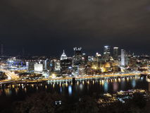 Pittsburgh Skyline at night from Mount Washington Stock Photography