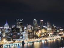 Pittsburgh Skyline at Night Stock Photos