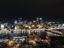 Pittsburgh Skyline at Night Stock Image